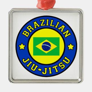Brasilianer Jiu Jitsu Silbernes Ornament