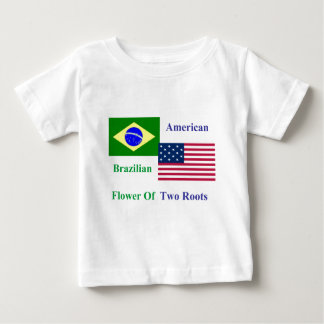Brasilianisch-Amerikanisch Baby T-shirt