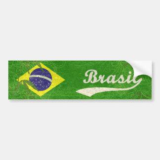 Brasilianische Flagge Autoaufkleber
