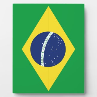 Brasilianische Flagge Fotoplatte