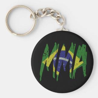 Brasilianische Flagge MIXED MARTIAL ARTS Schlüsselanhänger
