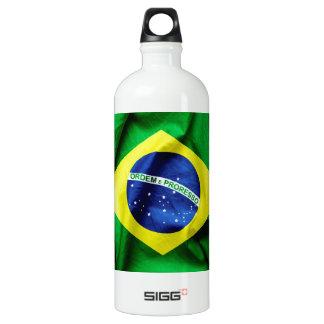 Brasilianische Flagge Wasserflasche