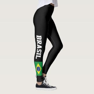 Brasilianische Flaggengamaschen für Leggings