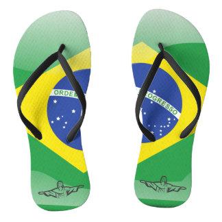 Brasilianische glatte Flagge Flip Flops