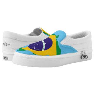 Brasilianische Landesflagge Slip-On Sneaker