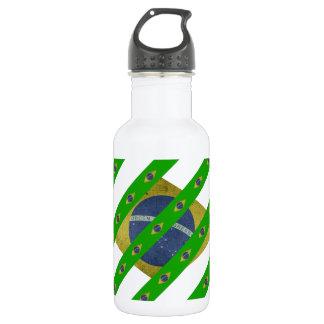 Brasilianische Streifenflagge Edelstahlflasche
