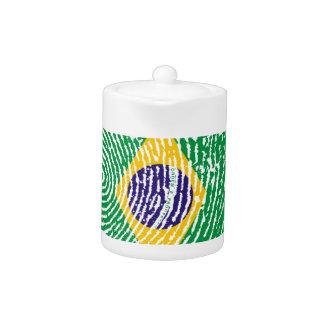 Brasilianische Touchfingerabdruckflagge