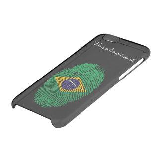 Brasilianische Touchfingerabdruckflagge Durchsichtige iPhone 6/6S Hülle