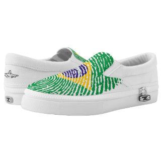 Brasilianische Touchfingerabdruckflagge Slip-On Sneaker