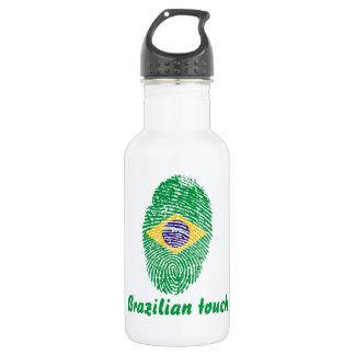 Brasilianische Touchfingerabdruckflagge Trinkflasche