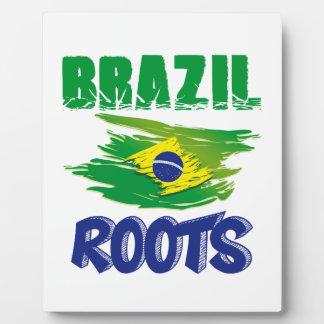 BRASILIANISCHE Wurzeln Fotoplatte