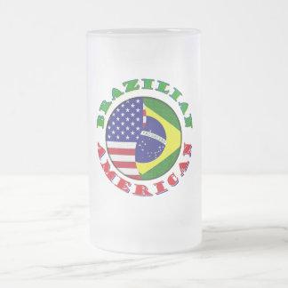 brasilianischer Amerikaner Mattglas Bierglas