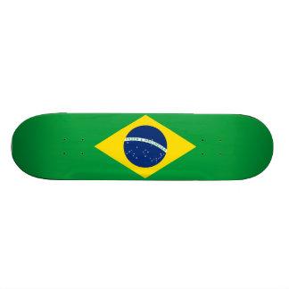 Brasilianisches Flaggen-Skateboard Skateboardbrett