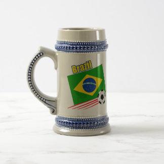 Brasilianisches Fußball-Team Bierglas