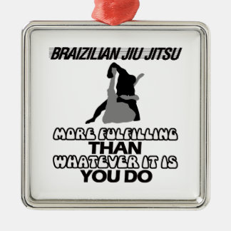BRASILIANISCHES JIU JITSU SILBERNES ORNAMENT