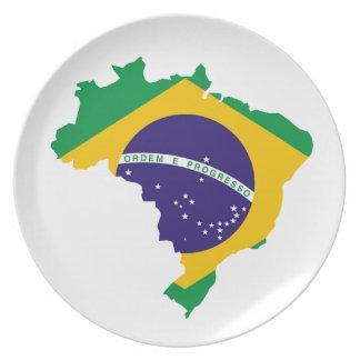 Brasilianisches Land Melaminteller