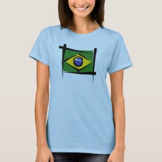 Brasilien-Bürsten-Flagge T-Shirt