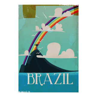 Brasilien Christus das Vintage Reiseplakat des Poster