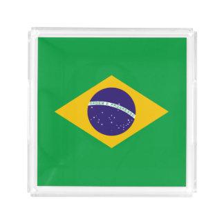 Brasilien-Flagge Acryl Tablett