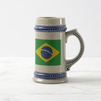 Brasilien-Flagge Bierglas