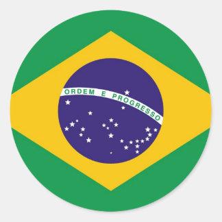 Brasilien-Flagge Brasilianer Runder Aufkleber