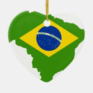 Brasilien Flagge Brazil Keramik Ornament
