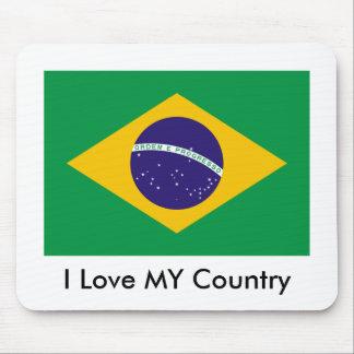 Brasilien-Flagge die MUSEUM Zazzle I Liebe MEIN La Mauspad