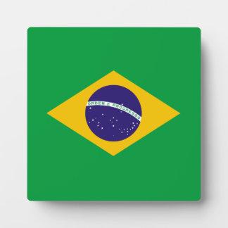 Brasilien-Flagge Fotoplatte