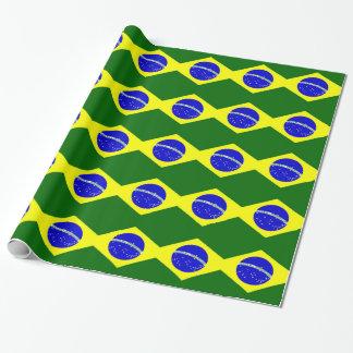 Brasilien-Flagge Geschenkpapier