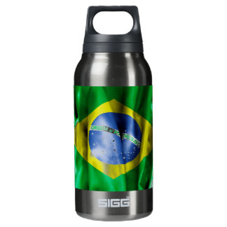 Brasilien-Flagge Isolierte Flasche