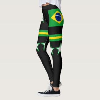 Brasilien-Flagge Leggings