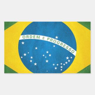 Brasilien-Flagge Rechteckiger Aufkleber
