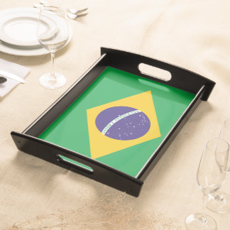 Brasilien-Flagge Serviertablett