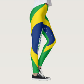 Brasilien-Flagge voll Leggings