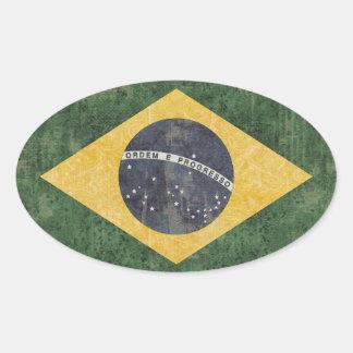 Brasilien-Flaggen-Aufkleber Ovaler Aufkleber