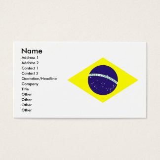 Brasilien-Flaggen-Diamant Visitenkarte