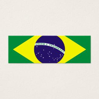 Brasilien-Flaggen-Entwurf Mini Visitenkarte