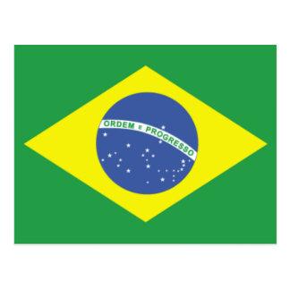 Brasilien-Flaggen-Entwurf Postkarte