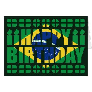 Brasilien-Flaggen-Geburtstags-Karte Karte