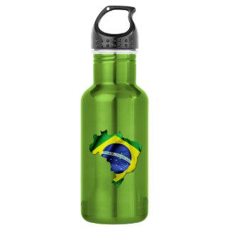 Brasilien-Flaggen-Land Edelstahlflasche
