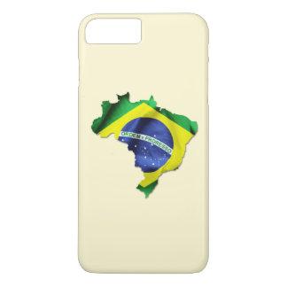 Brasilien-Flaggen-Land-Form iPhone 7 Plusfall iPhone 8 Plus/7 Plus Hülle