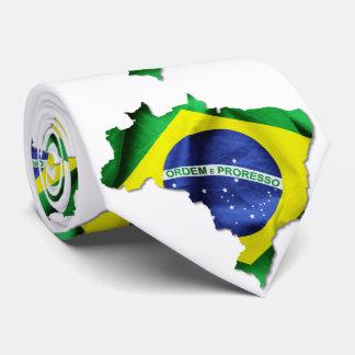 Brasilien-Flaggen-Land Individuelle Krawatten