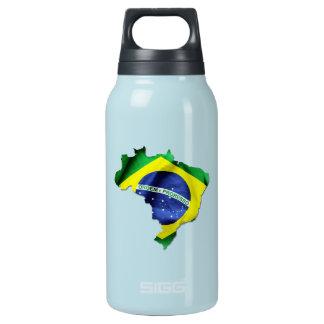 Brasilien-Flaggen-Land Isolierte Flasche