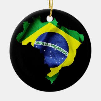 Brasilien-Flaggen-Land Keramik Ornament