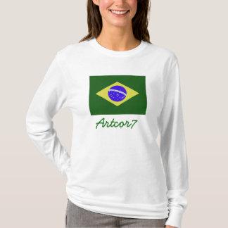 Brasilien-Flaggen-Licht-T - Shirt