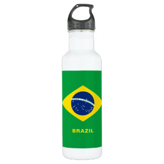 Brasilien-Flaggen-Wasser-Flasche Trinkflasche