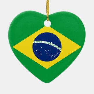 Brasilien-Flaggenentwurf Keramik Ornament