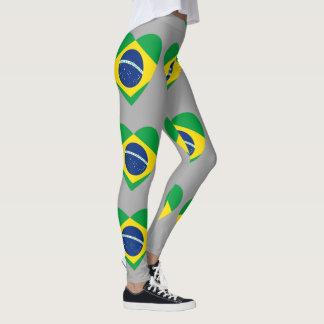 Brasilien-Flaggenentwurfs-Mustergamaschen Leggings