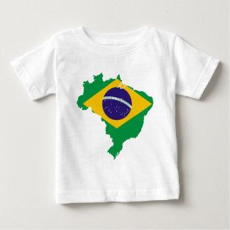 Brasilien-Flaggenkarte Baby T-shirt