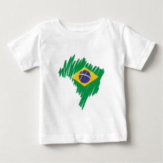 Brasilien-Form Baby T-shirt